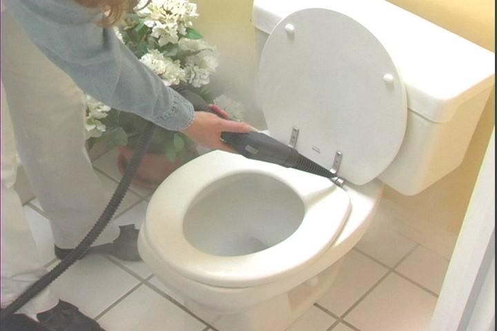 steam clean toilets