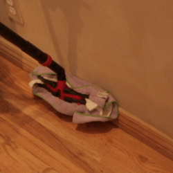 steam clean baseboards