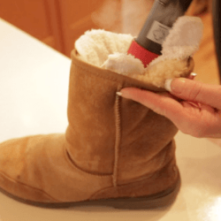 steam cleaner on boots