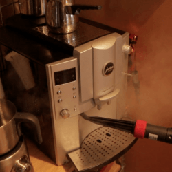 steam clean espresso machine
