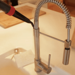 steam clean faucets