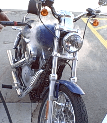 how to clean a motorcycle