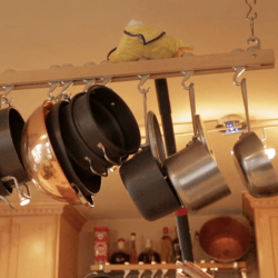 steam clean pot rack bracket