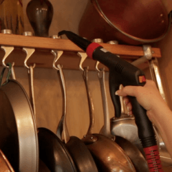 steam clean pot rack