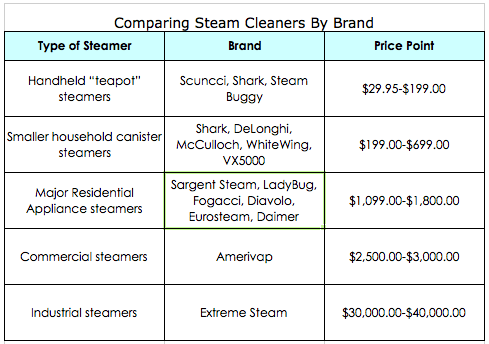 how to choose a steam cleaner comparison by brand