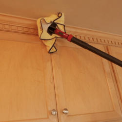 steam clean crown molding