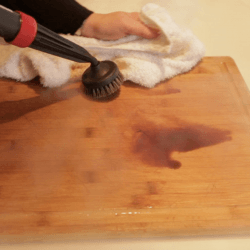 steam clean cutting boards