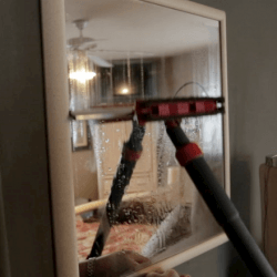 steam cleaner on mirrors