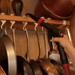 steam clean pot rack